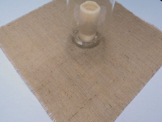 Set of 8 Burlap Table Squares 12  up to 16 by theruffleddaisy, $28.00