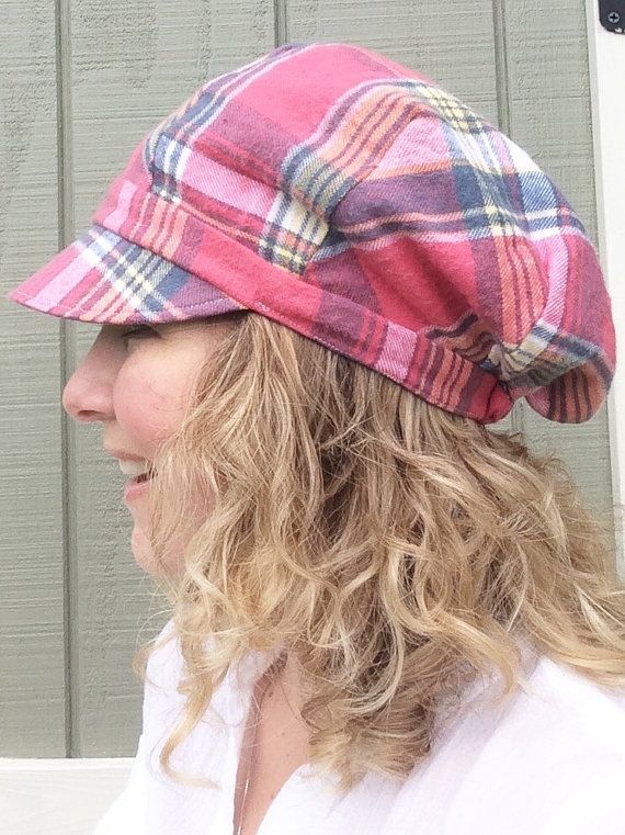 Womens Slouchy Newsboy  Newspaper Boy Hat for by BoundtobeCreative
