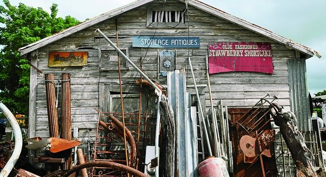 Nautical artifacts at Miami's Stoneage Antiques store. (From: Road Trip: Florida's Best Thrift Stores on I-95)