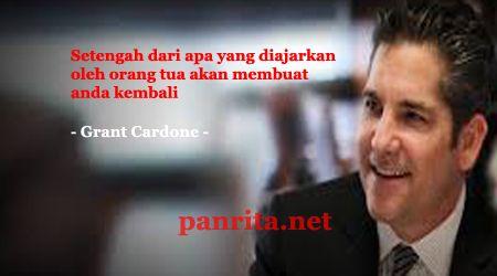 Grant Cardone adalah seorang pengusaha sukses. Penulis buku motivasi dan pembicara motivasi. Intinya adalah bahwa Cardone adalah seorang motivasi yang