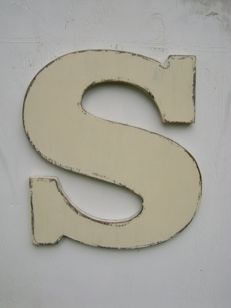 3 d large wooden letter s rustic decor vintage style 18 tall 34 thick great quality