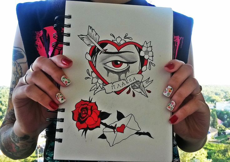 Inspirated by my girlfriend!  p.s-Sorry for my english:3 #tattoo #tattoos #sketch #traditional #rose #heart #cry #designtattoo #LxV #drawing #ink #tattooideas