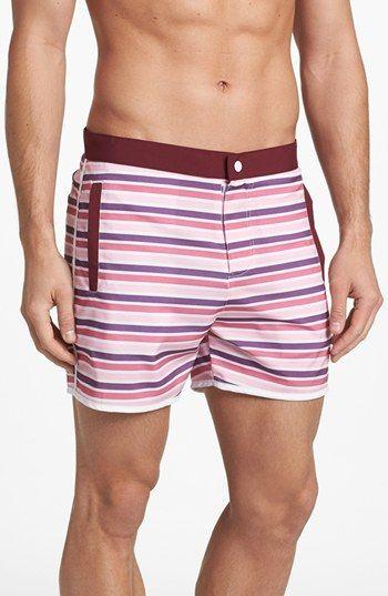 burgundy stripes #boardshorts