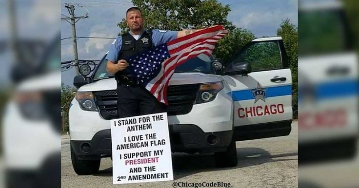 Chicago, IL - A Chicago police officer was disciplined after showing support for the American flag, the national anthem, President Trump, and the Second Amendment.