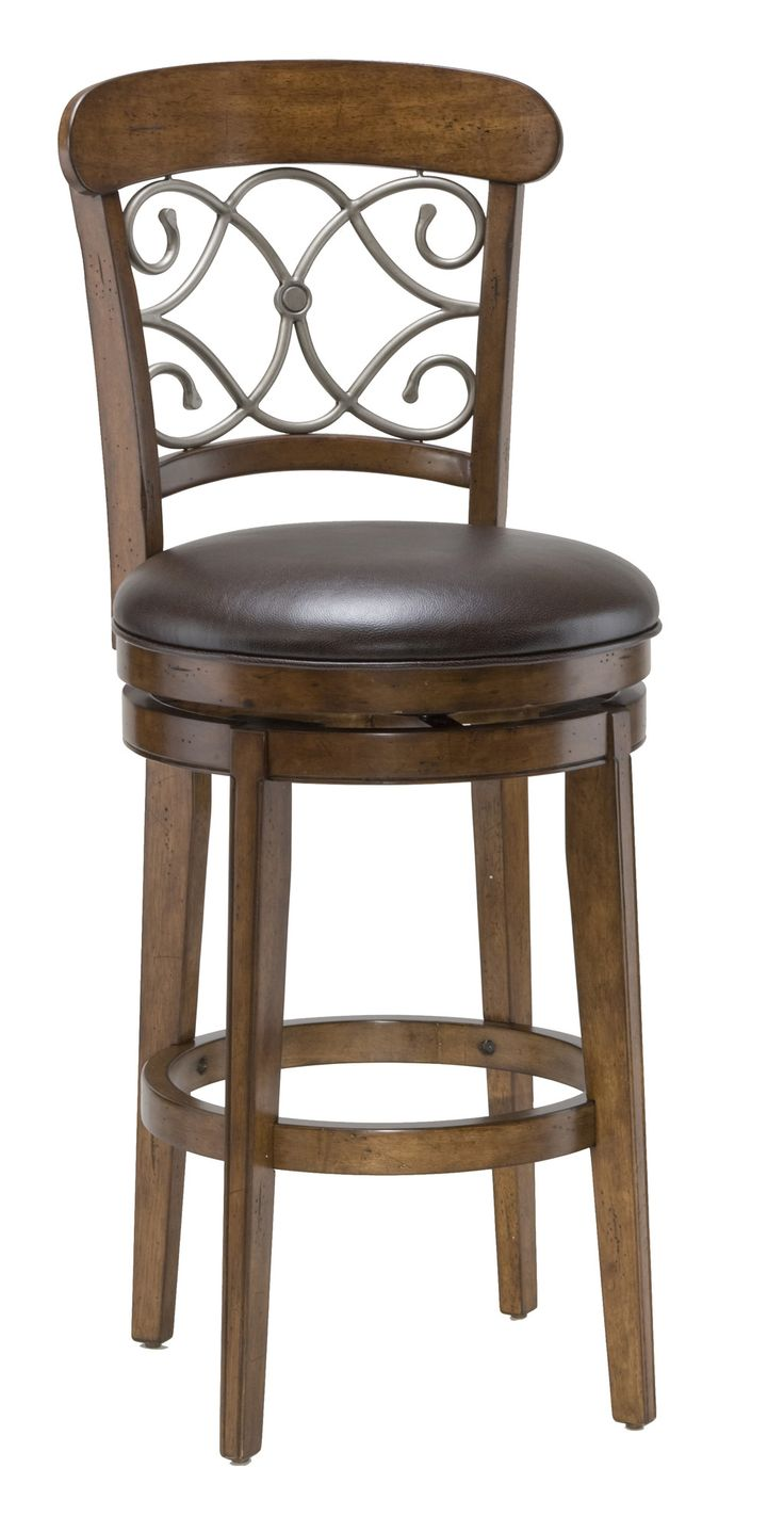 Country crafted wooden chair and stool ebth - Wood Stools Bar Height Calais Swivel Stool By Hillsdale At Bullard Furniture