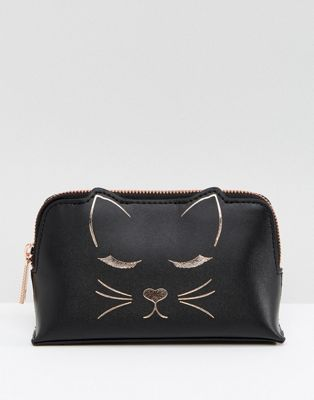 2e722c2b12897 Ted Baker Cat Mini Make-Up Bag in Leather