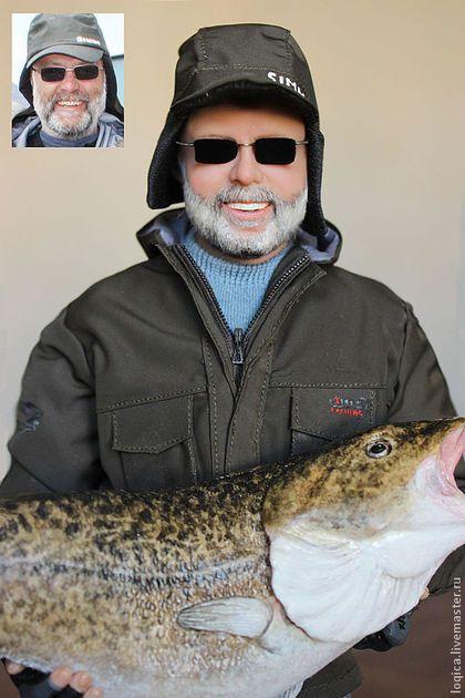 Рыбак - рыбак,рыба,ЛивингДолл,натуральные волосы