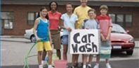 Car wash! Have music, be loud and friendly, use mascot to attract
