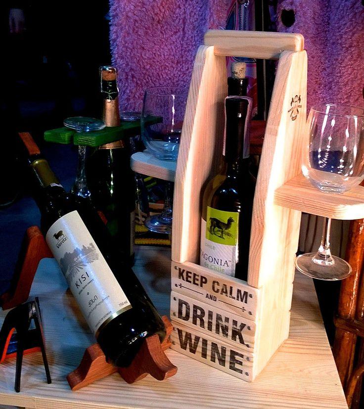 Подарочная подставка для вина и бокалов Wine for Two. Купить или заказать индивидуально в Украине вы можете в мастерской изделий из натурального дерева Beaver's Craft - мебель, декор, аксессуары и деревянные принадлежности для дома, бара, пикника