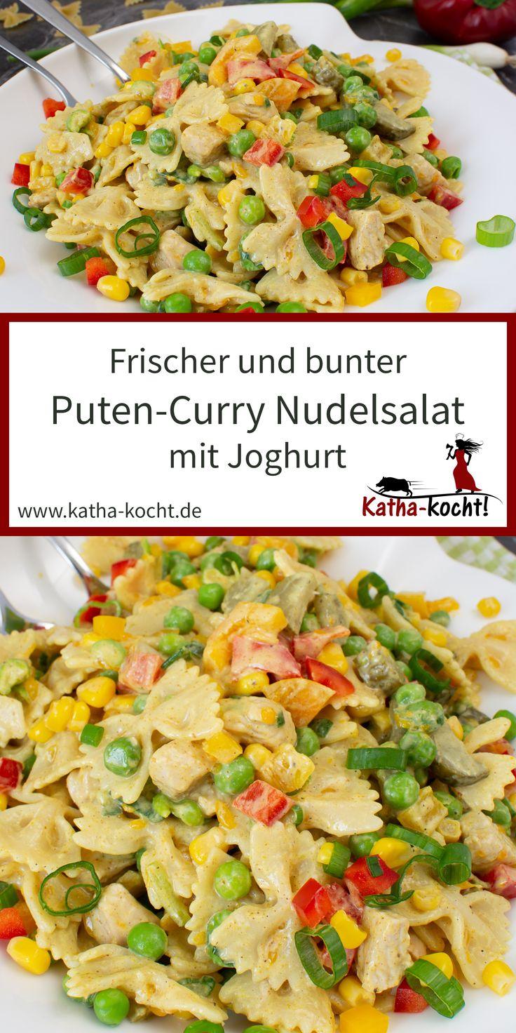 Puten-Curry Nudelsalat