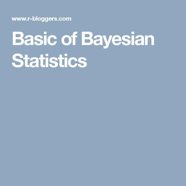 Basic of Bayesian Statistics