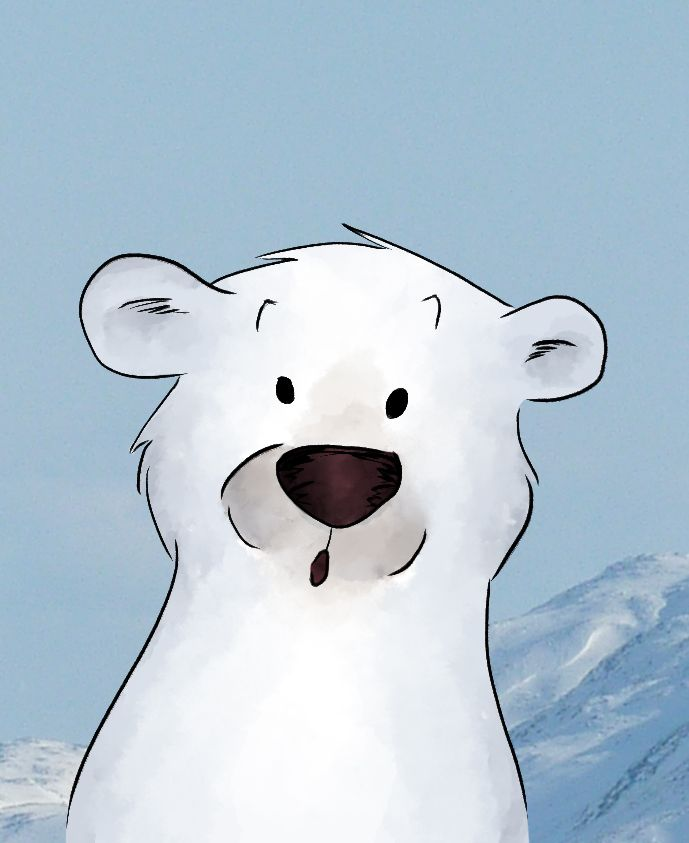 Illustration tete ours blanc
