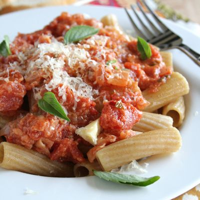 """A Publish my Bliss recipe contest winning entry from Denise Miller.<BR><BR>  """"My daughter loves pasta and she wants to be a chef someday. She is what inspired me to make this recipe. Plus, I'm a big fan of natural bliss® creamer."""""""