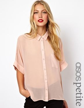 ASOS PETITE Swing Blouse with Kimono Sleeve