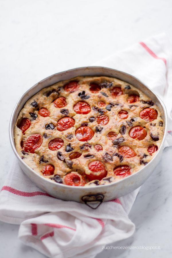 ::Zucchero e Zenzero::: Clafoutis ai pomodori e ai profumi italiani