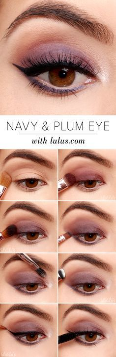 This week's Navy and Plum Smokey Eyeshadow Tutorial is a spring-ready masterpiece! Give this pretty plum look a try by following our simple steps!