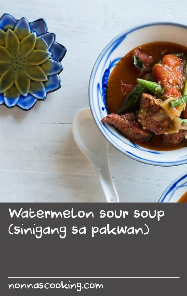 Watermelon sour soup (sinigang sa pakwan) | From the Pampanga region of the Philippines comes this sour soup with a watermelon twist. For something different, ask your butcher to corn the beef brisket for you. Don't use silverside, as the beef needs to have some fat for the soup to really shine.