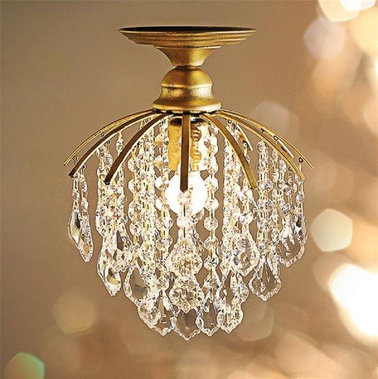 79.99$  Buy now - http://aliykj.worldwells.pw/go.php?t=32792163655 - American Village Style Crystal Ceiling Chandeliers Aisle living room Light European Loft lusters en hanglampen lampadario cucina