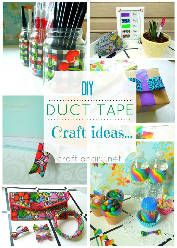 17 best images about duct tape ideas on pinterest for Duck tape craft ideas