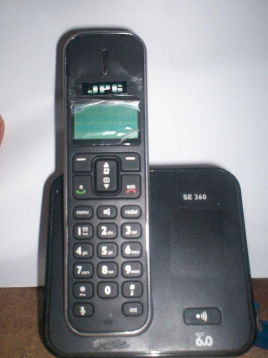 Teléfono inalámbrico JPG Almendra con buzón de voz, conferencia y lista de agenda con 100 entradas.