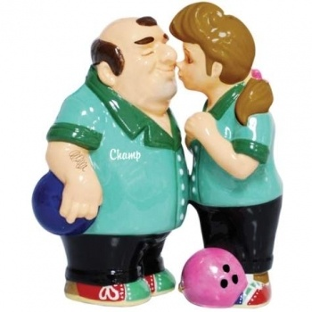 Bowlers Couple Wedding Cake Topper