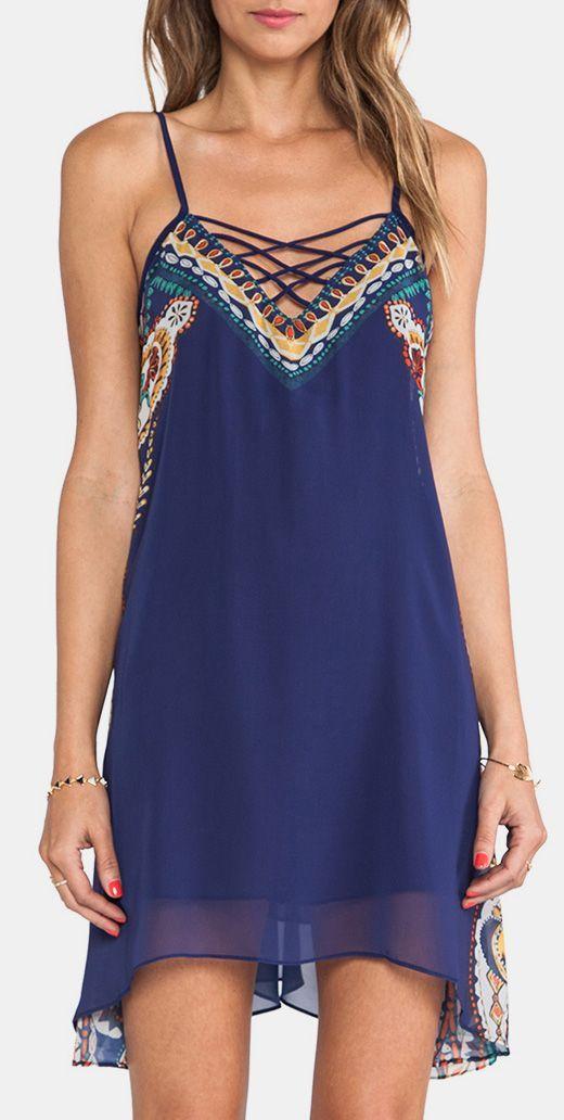 Short Dress in Dark Blue