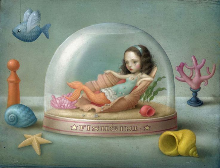 Pisces are often depicted as living in a bubble of sorts, but they are extremely wise and often understand things other people may not. (zodiaccity.com) (Art: Nicoletta Ceccoli)