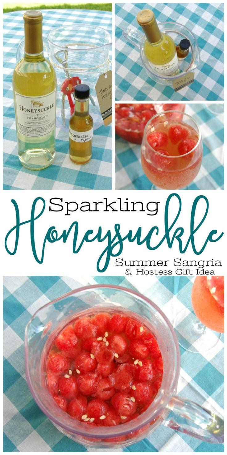 sparkling honeysuckle summer sangria
