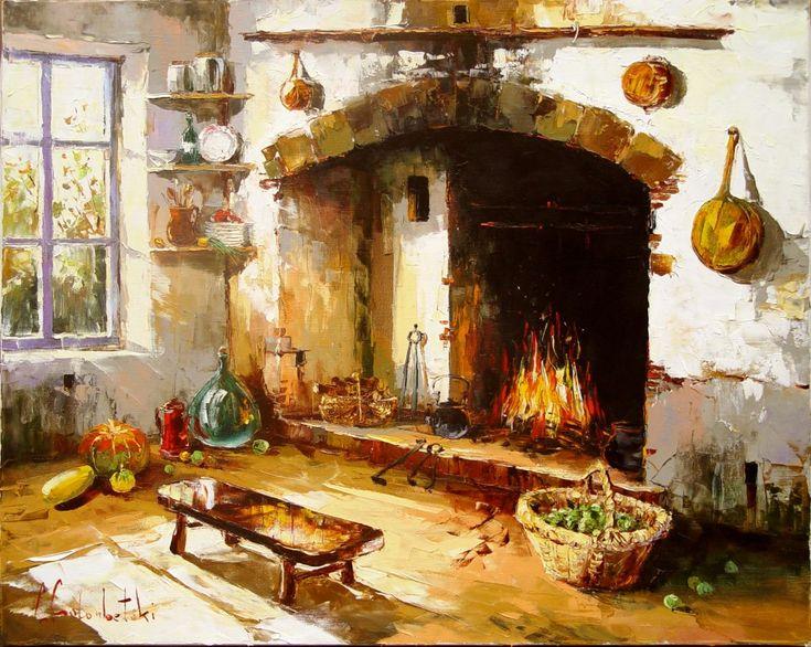 Russian artist Gleb Goloubetski | Country house