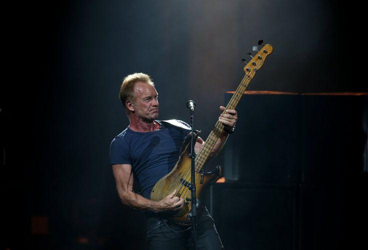Sting en concert à la Foire aux Vins de Colmar, le lundi 31 juillet 2017. Photo Lionel VADAM
