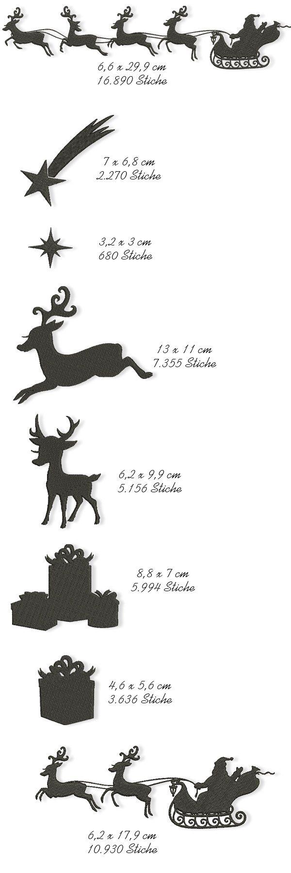 Der Stickbär | Designbeispiel: Scherenschnitt-Weihnachten