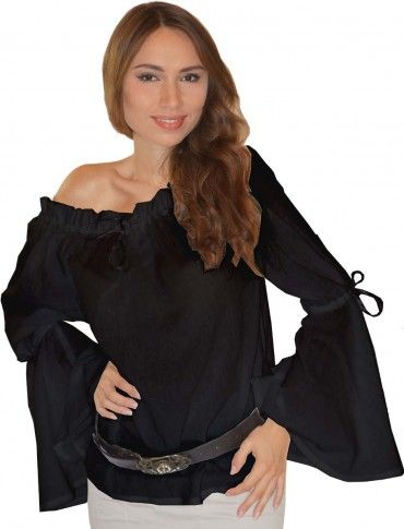trajes medievales trajes de algodón puro Bluse Elena de mujer Trajes medievales