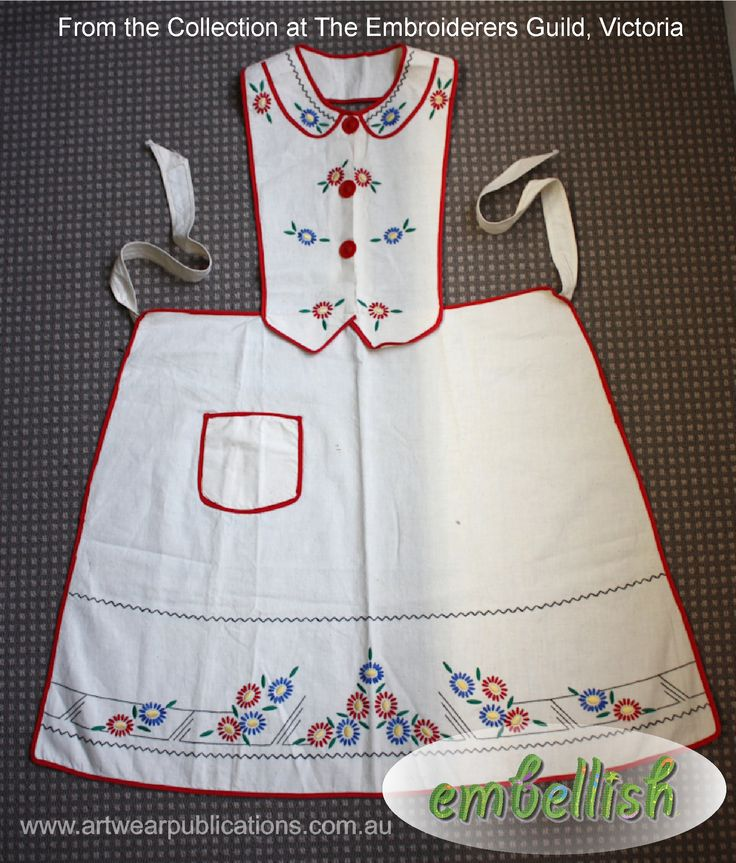 This lovely vintage apron appeared in Embellish issue 16 - complete with pattern and embroidery instructions for you to make your own. #embroidery #vintage