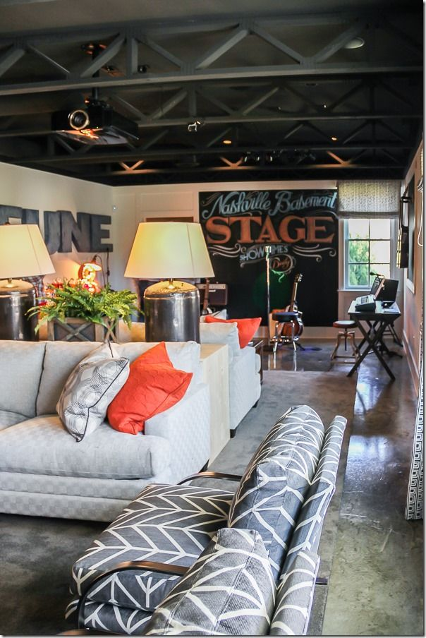HGTV SMART HOME BASEMENT WITH FULL STAGE