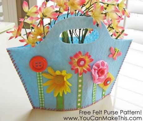 Spring Fling Felt Purse - Free Sewing Tutorial by You Can Make This