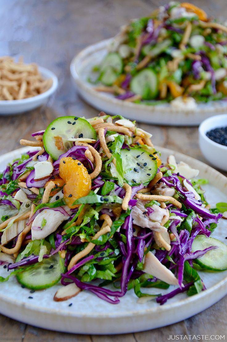Chinese Chicken Salad With Sesame Dressing Just A Taste Chinese Chicken Salad Chinese Salad Recipes Chicken Salad Ingredients