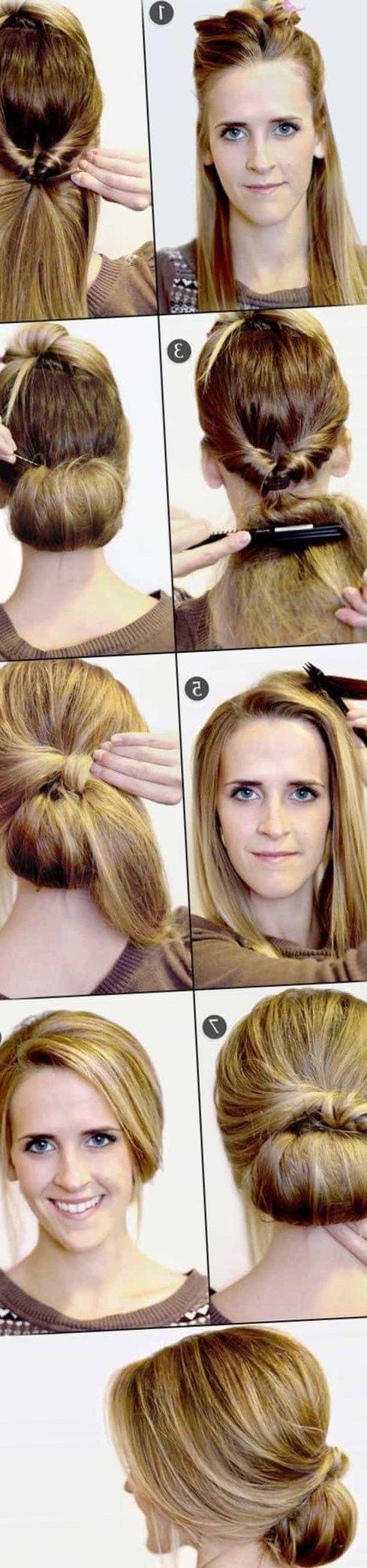 Как самой сделать прическу на средние волосы - http://popricheskam.ru/63-kak-samoj-sdelat-prichesku-na-srednie-volosy.html. #прически #стрижки #тренды2017 #мода #волосы
