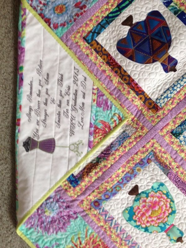 17 Best Images About Quilt Labels Embroidered On