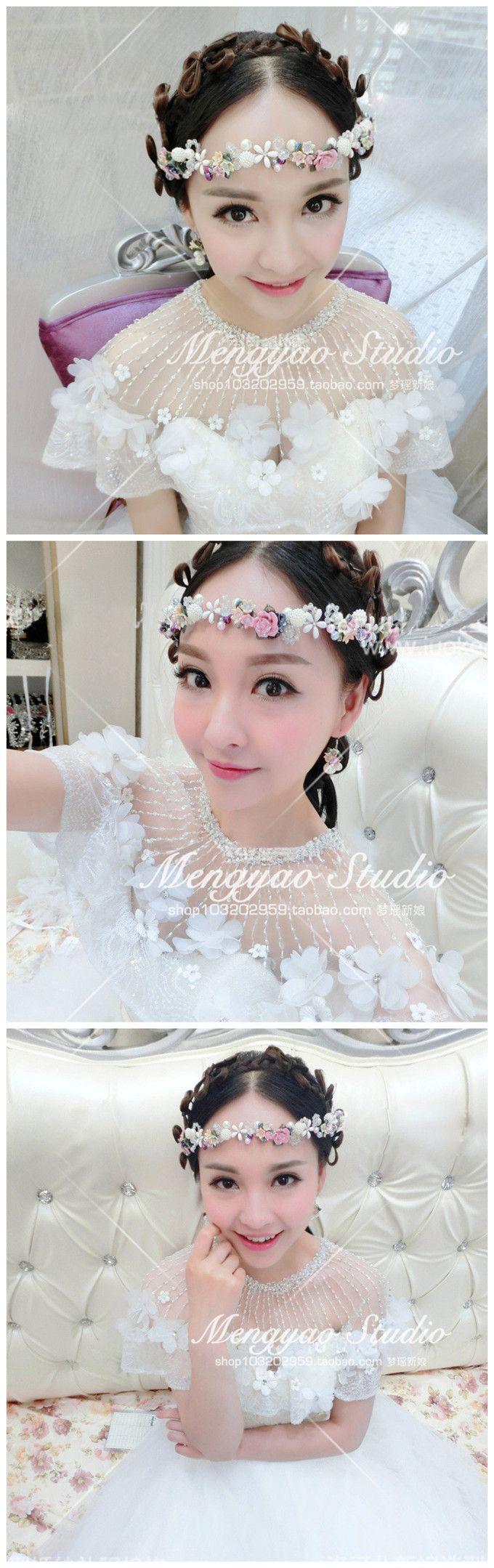 Свадебные украшения свадебные аксессуары аксессуары для волос волосы ленты для волос лента свадьбы в стиле барокко жемчужина керамики цветок голову цветок корейский - Taobao