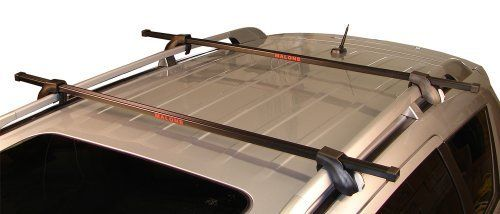 Malone Auto Racks Universal Car Roof Rack, 50-Inch by Malone Auto Racks. $89.64. Amazon.com                The Malone Auto Racks universal crossbar fits nearly all factor-installed side rails on virtually any vehicle make and model, giving you an affordable way to transport kayaks, canoes, stand-up boards, surfboards, roof boxes, snowboards, skis, and bikes.  The crossbar includes key-locking towers that provide a permanent fit on your roof. The crossbar syste...