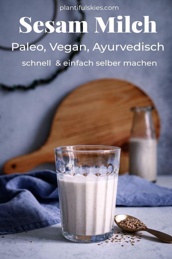 Sesammilch selber machen – die sattvische Milchalternative