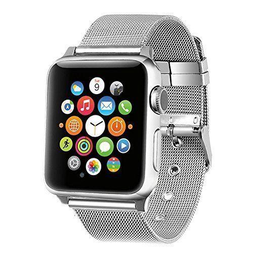 Apple Watch Band iWatch Strap Wrist Bracelet Compatible Steel Silver 38mm #iWATCHBracelet