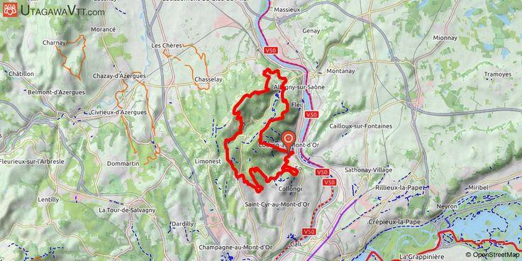 [Rhône] Tour des Monts d'Or Beau parcours pour découvrir les Monts d'Or. Les descentes sont magnifiques, les chemins alternent entre forêts et paysages, les Monts d'Or sont le spot parfait pour une belle rando VTT. Il y a de très belles vues sur Lyon et même sur les Alpes par temps clair.  Très peu de goudron.