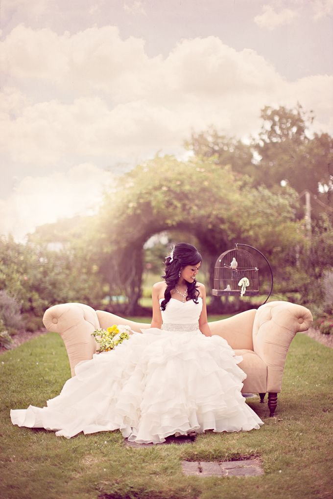 fairy tale bridal portraits | Archetype Studio Inc BIRDCAGE!!!!!