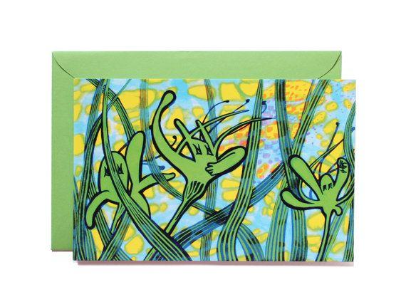 Cheering orchids-Art print-Postcard by Pionara on Etsy