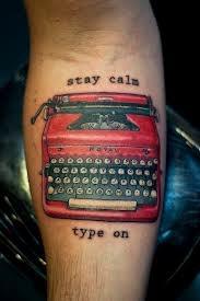 typewriter tattoo design