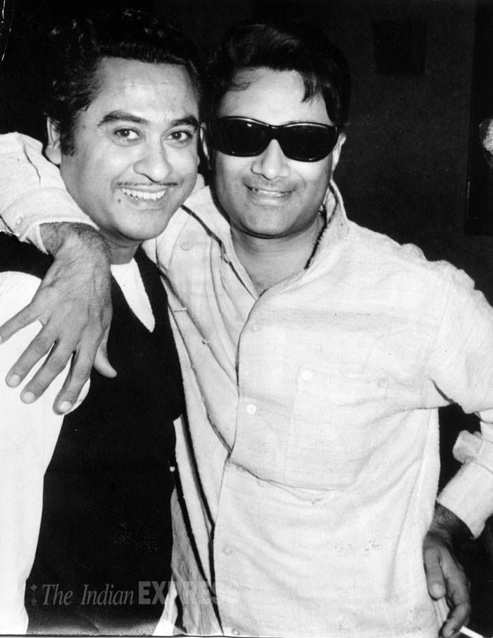 "Made for each other! Kishore Kumar's voice suited Dev Anand perfectly. In fact, #KishoreKumar's first recorded song ""Marne Ki Duayen Kyon Maangu"" for ""Ziddi"" (1948) was picturised on Dev. From then on, Kishore preferred singing only for himself and Dev till 1968-69, when he turned towards full time playback singing. Their musical bondage lasted right from 'Ziddi' days till Kishore Kumar's death in October 1987."