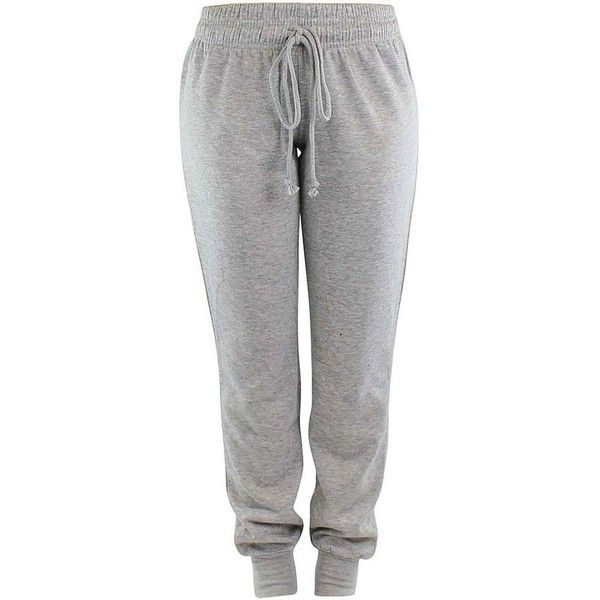 Drawstring Ladies Jogger Exercise Sweatpants ❤ liked on Polyvore featuring activewear, activewear pants, cropped sweatpants, cropped sweat pants, drawstring sweat pants, cotton sweatpants and tapered sweat pants