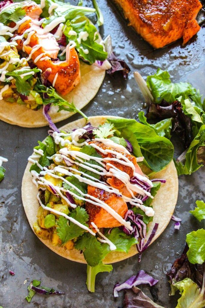 Orange Glazed Cajun Salmon Tacos (My Favorite Tacos Ever) - Layers of Happiness