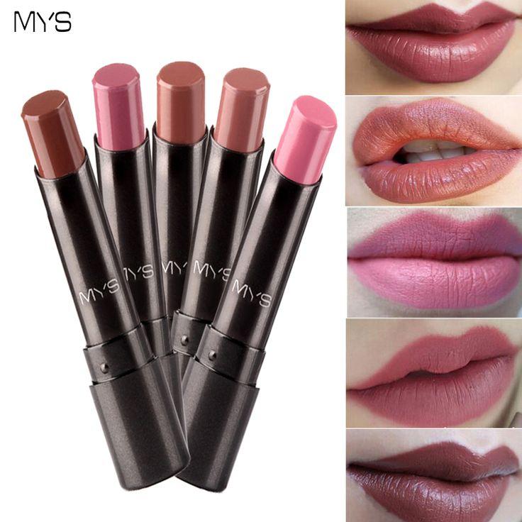 2016 Recién Llegado de MYS marca belleza ramita mehr mate lápiz labial de larga duración labios tinte lipgloss cosméticos maquiagem batom